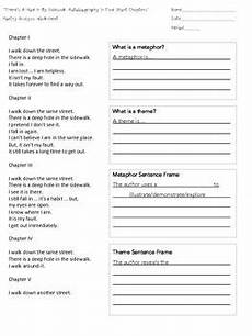 writing poetry worksheets middle school 25325 quot there s a in my sidewalk quot poetry analysis worksheet poetry poetry unit reading strategies