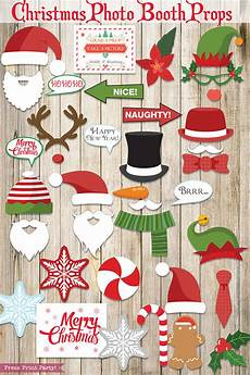 37 fun christmas photo booth props printables press print party