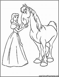 Malvorlage Prinzessin Und Pferd Princess Cinderella Coloring Pages Ideas