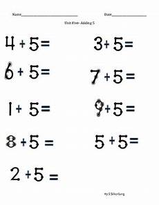 touch math worksheets touch math addition adding 5 by s stuff tpt
