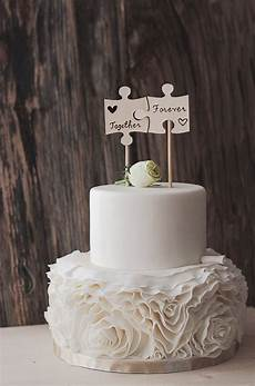 rustic cake topper woodsy wedding puzzle cake topper mr and mrs wooden cake topper