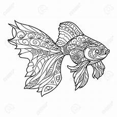 Malvorlagen Mandala Fische Mandala Fish Black And White Lines Coloring Pages
