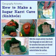 geography activities make a sugar karst cave sinkhole