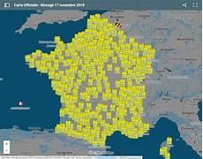 carte gilet jaune blocage carte de des blocages des gilets jaunes le 17