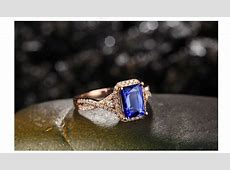 Beautiful 2 Carat Blue Sapphire and Diamond Engagement