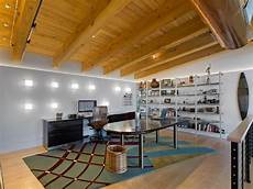 wall of light industrial home office denver by 186 lighting design group gregg mackell