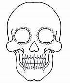 Day Of The Dead Sugar Skull Coloring Template By KRIOpie