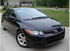 Black Honda Civic EX L Sporty Coupe For Sale By Owner in
