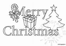 merry christmas clipart black and white coloring page