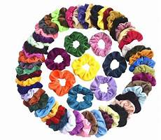 60 pcs velvet hair scrunchies for 5 99 shipped reg
