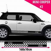 Mini Cooper Signature Side Racing Stripes Stickers Decal
