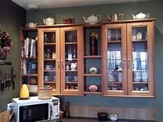 Leksvik Pine Cd Cabinets And Ikea Pine Shelves Kitchen