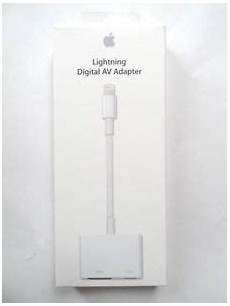 apple lightning digital av adapter to hdmi port for iphone