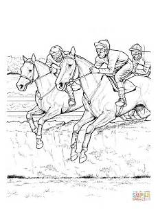 ausmalbild pferde 252 berspringen ein hindernis