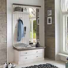 garderobe mit spiegel garderobe monaco set spiegel bank paneel kiefer massiv