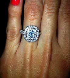 my perfect engagement ring a nearly 2 carat cushion cut