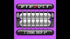 Guitar Tuner 7 String Drop A Bb A F A D