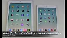apple air vs mini retina comparison and review
