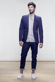 veste avec jean homme silhouette homme veste en coton jean retrouss 233 sur les