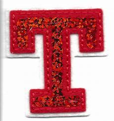 applique iron on letters sequin 2 quot letter quot t quot iron on embroidered