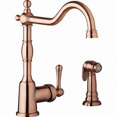 copper kitchen sink faucets danze opulence single handle standard kitchen faucet with side spray in antique copper d401157ac