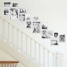 Bilder Im Treppenhaus Anordnen - bilderwand treppe modern weiss aus mdf 15er bilderrahmen