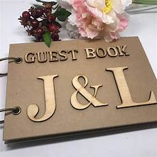 personalized wedding guest book custom wedding photo diy rustic wedding wooden a5