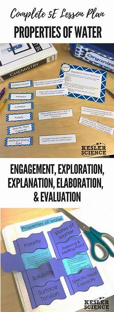 earth science lesson plans high school 13395 properties of water 5e lesson plan with images science lesson plans middle school science