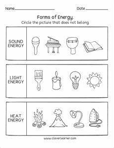 science heat worksheets 12221 forms of energy heat light sound second grade science grade science kindergarten