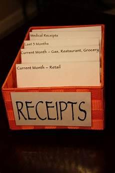 receipt organization cas ls and track
