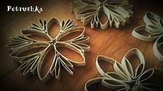 Klopapierrollen Basteln Blume - diy how to make toilet paper roll snowflakes and