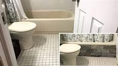 baignoire transformée en avec de simples pierres de parement ce transforme