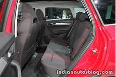 skoda karoq rear seat showcased at iaa 2017