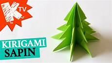sapin en papier plié sapin de noel en papier kirigami origami facile