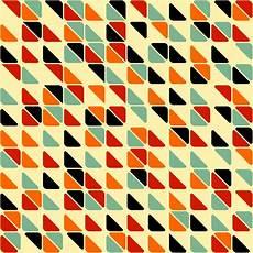 Papier Peint Retro Abstract Seamless Pattern Avec Des