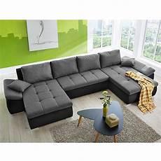 sofa wohnlandschaft wohnlandschaft torino sofa in u form schwarz anthrazit