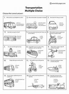transport comprehension worksheets 15178 transportation choice b w worksheet skills special education transportation