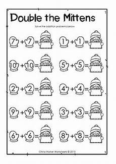 addition worksheets for elementary students 8851 numbers winter themed free doubling numbers