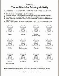 worksheet twelve disciples coloring activity ministry to children