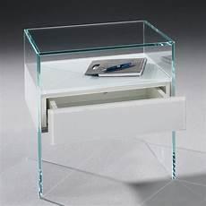nachttisch glas pure glas nachttisch von dreieck design