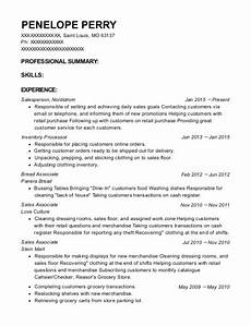 salesperson inventory processor resume sle louis missouri resumehelp