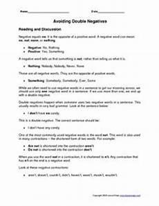 avoiding double negatives worksheet for 3rd 5th grade lesson planet
