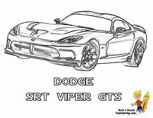Dodge Viper Coloring Pages Collection  For Kids 2019
