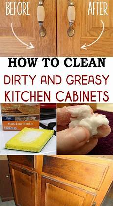 Kitchen Cabinet Doors Cleaning by How To Clean And Greasy Kitchen Cabinets