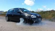clio 1 6 16v renault clio 1 6 16v turbo burnout