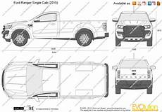 The Blueprints Vector Drawing Ford Ranger Single Cab