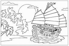 kostenlose malvorlage piraten piratenschiff vor einer