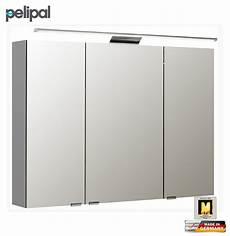 pelipal neutraler spiegelschrank 100 cm mit led