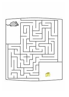 Malvorlagen Vorschule Quiz Labyrinth Irrgarten Maus Sucht K 228 Se R 228 Tsel F 252 R Kinder