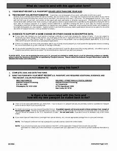 u s passport re application form free download
